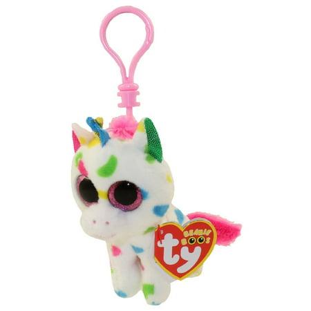 0aa49fd5945 Ty Beanie Boos - TY Beanie Boos - HARMONIE the Unicorn (Glitter Eyes)  (Plastic Key Clip) - Walmart.com
