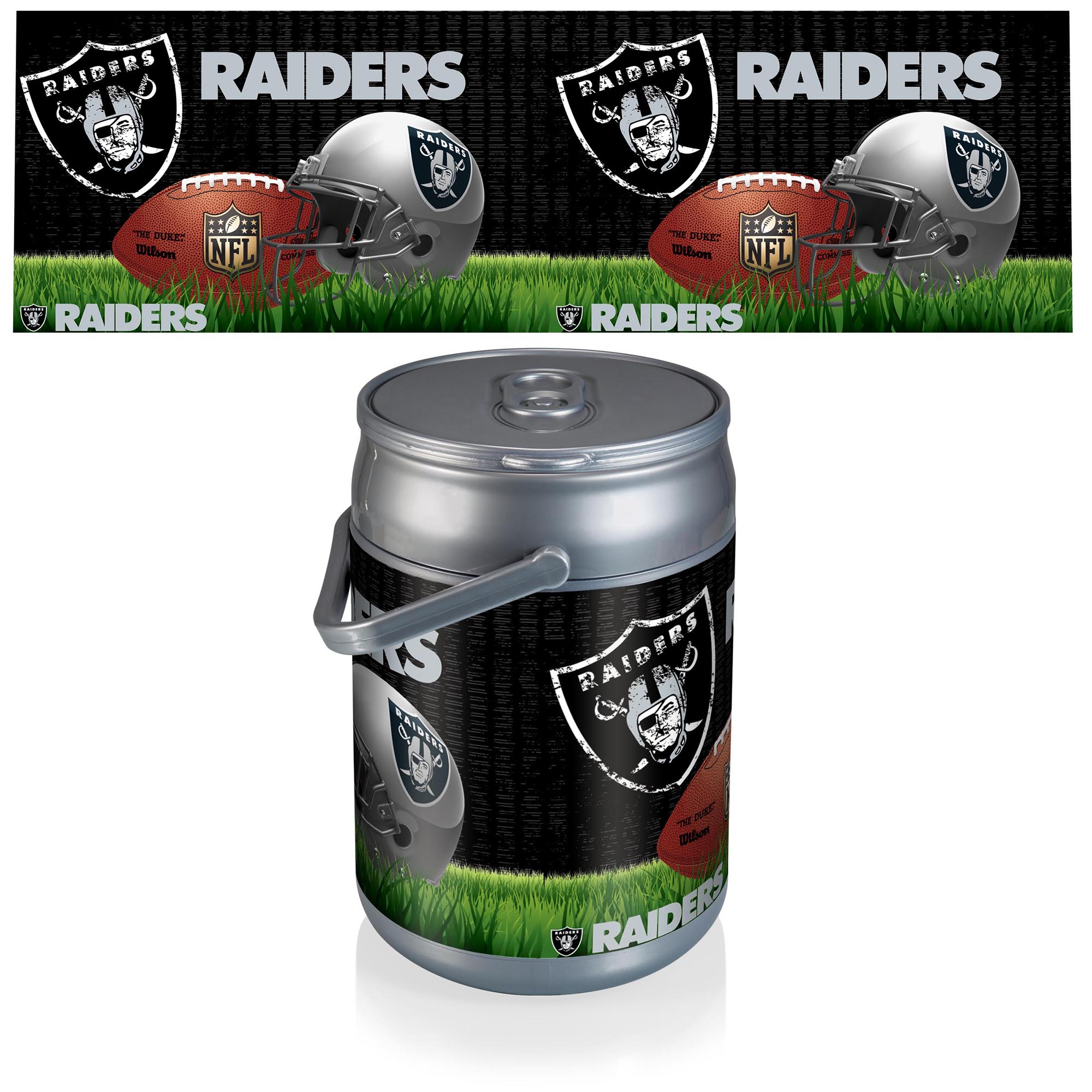 Oakland Raiders Diagonal Can Cooler - No Size