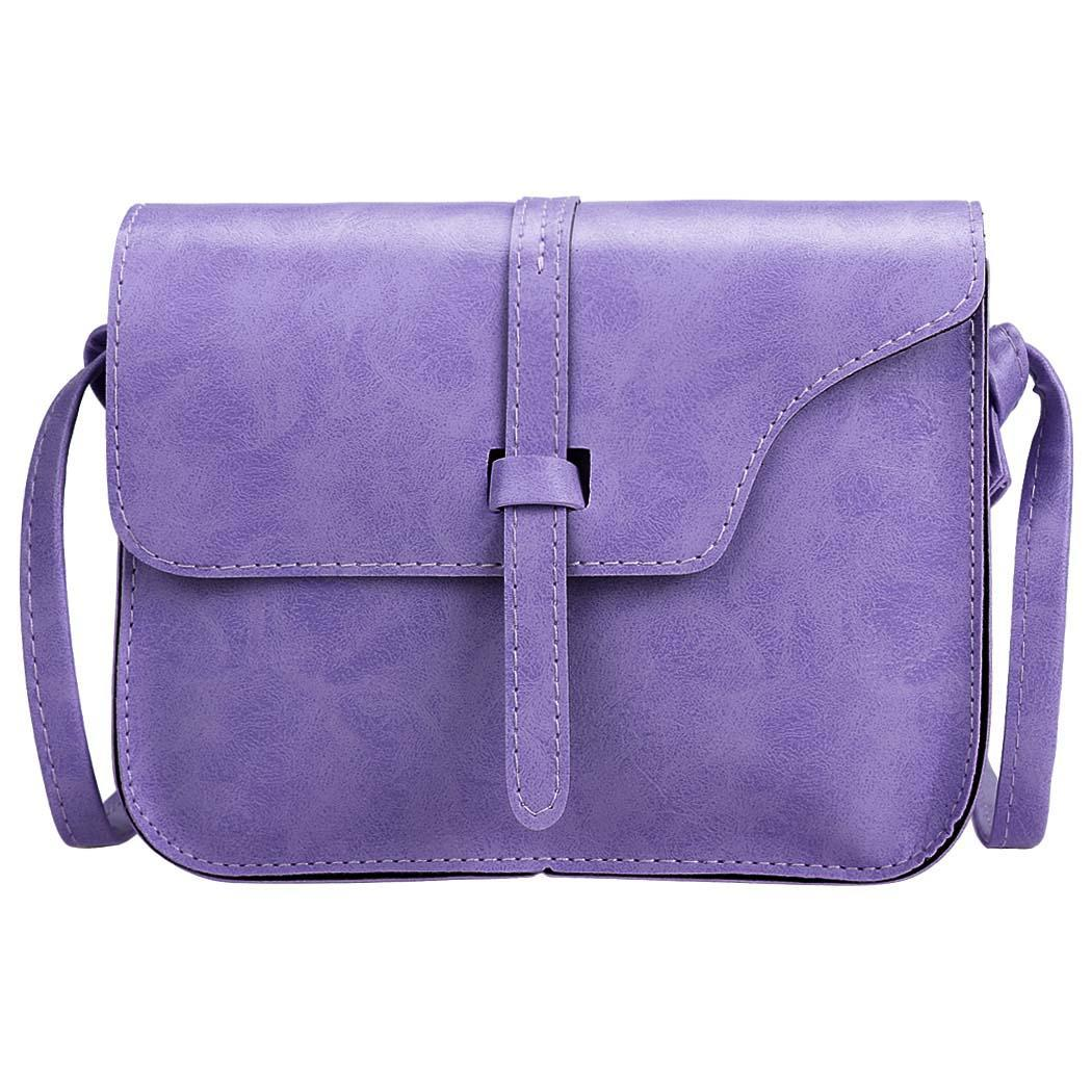 Clearance!! Women Fashion Retro Synthetic Leather Mini Solid Handbag Cross Body Shoulder Bags SPTE