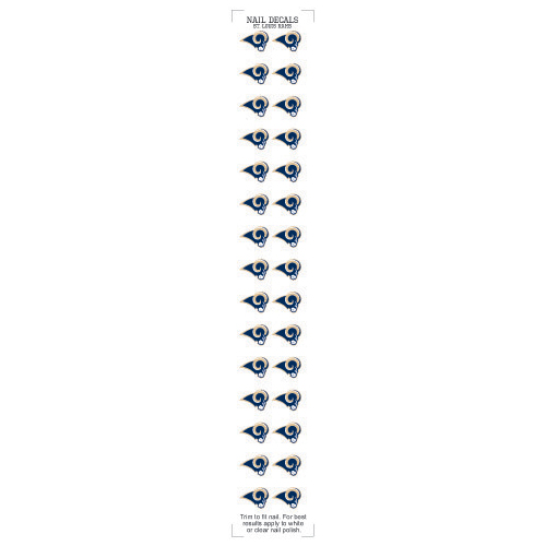 Los Angeles Rams Nail Sticker Decals (2 Pack)