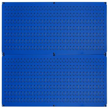 Pegboard Rack Wall Control Pegboard Pack Blue Steel Peg Boards - Two 32-Inch x 16-Inch Blue Metal Pegboard Panels