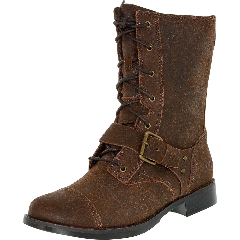 Ugg Women's Marela Dark Chestnut Mid-Calf Leather Boot - 7M