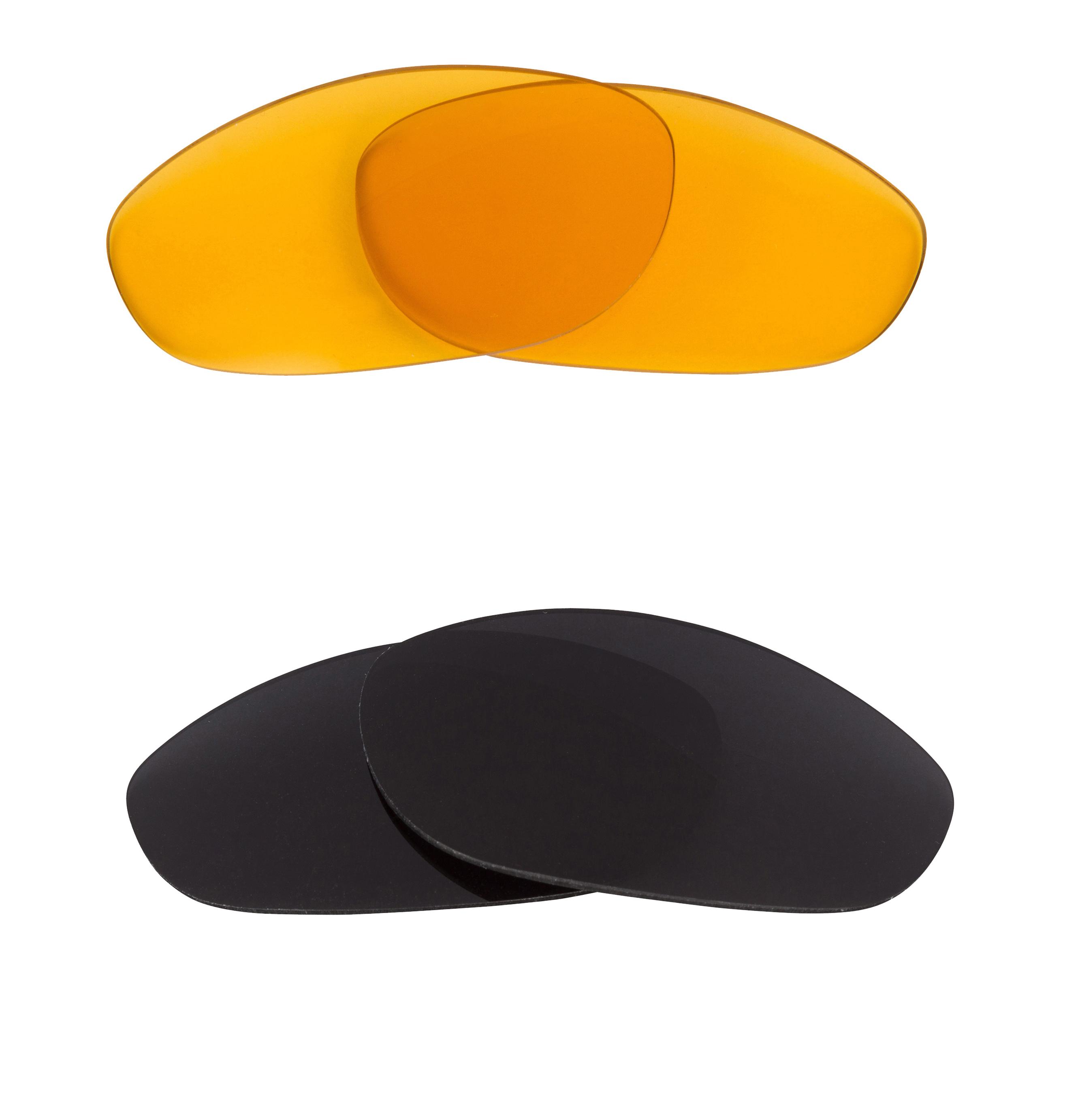 Best SEEK Replacement Lenses for Oakley Sunglasses MONSTER DOG Black HI Yellow