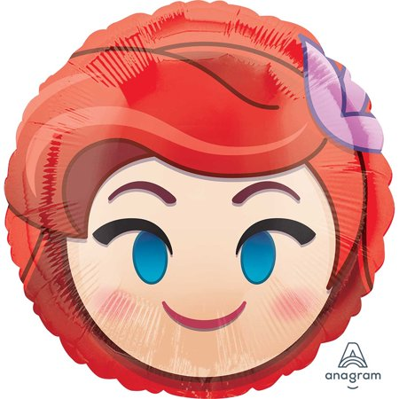 Little Mermaid Ariel Emoji Foil Balloon 18