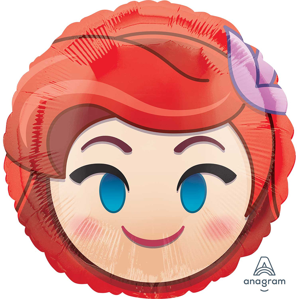 "Little Mermaid Ariel Emoji Foil Balloon 18"" ( Each )"