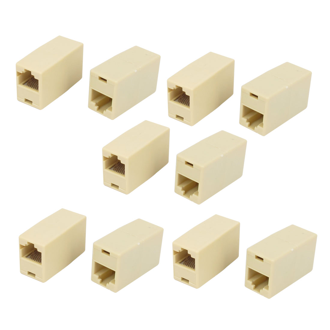 Unique Bargains10pcs RJ45 8P8C Female to Female F/F Network Cable Coupler Connector Extender