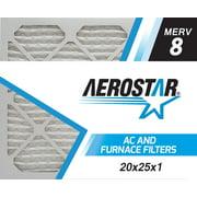 Aerostar 20x25x1 MERV 8, Pleated Air Filter, 20x25x1, Box of 4, Made in the USA