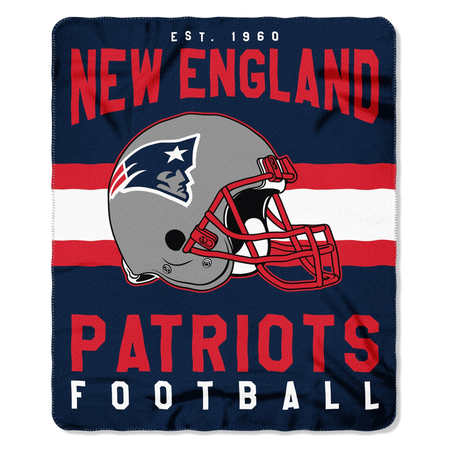 "NFL New England Patriots ""Singular"" 50"" x 60"" Fleece Throw"