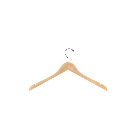 17 inch Natural Wood Dress Hangers - Case of 50 Wood Dress Hanger