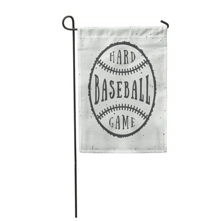 KDAGR ABC Vintage Baseball Emblem Badge Academy Active Garden Flag Decorative Flag House Banner 12x18 inch](Baseball Banner)