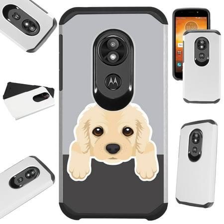 For Motorola Moto E5 Plus | Motorola Moto E5 Supra Case Hybrid TPU Fusion Phone Cover (Cute Dog Cocker Spaniel)