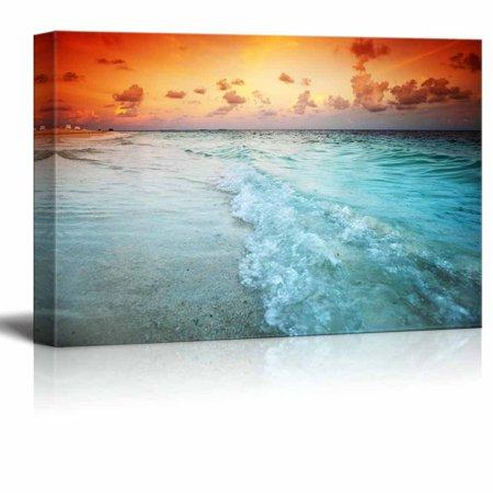 Canvas Prints Wall Art - Beautiful Scenery/Landscape Sunset on the ...