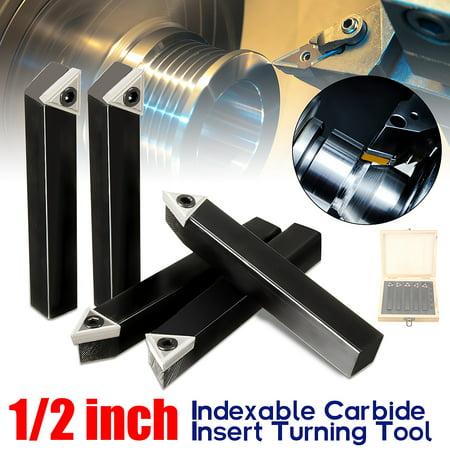 1/2'' Shank 10mm Lathe Indexable Carbide Insert Turning Tool Bit Set 5Pcs/box - image 11 of 11