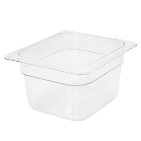 Polycarbonate Solid Food Pan Covers - Thunder Group SIXTH SIZE 4