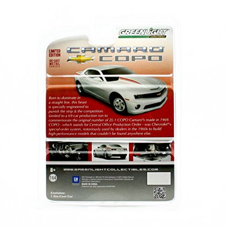 2012 CHEVROLET COPO CAMARO (White with Red Stripes) 2014 Greenlight Collectibles 1:64 Scale Limited Edition Hobby Exclusive Die-Cast Vehicle by GL Muscle - image 4 of 4