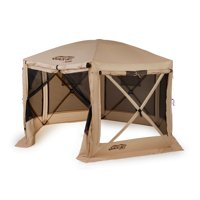 Quick-Set Pavilion Portable Pop Up Camping Outdoor Gazebo Canopy Shelter, Tan