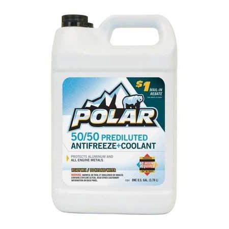 Polar 50/50 Prediluted Antifreeze Coolant, 1 Gallon Polar Crystal Gallon