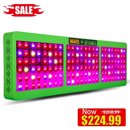 Hydro Light - Mars Hydro Reflector 144 LED Grow Light Plant Light Lamp Growing Fixture Full Spectrum IR Growth Bloom Switches Good For Hydroponic System Organic Soil Horticulture Commercial Garden Most Effective
