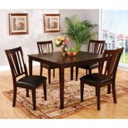 Furniture of America Grandine 5 Piece Dining Set - Espresso