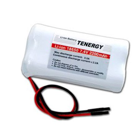 Li_Ion 18650 7.4V Tenergy 2200mAh Rechargeable Battery module with (Polymer Li Ion Module)