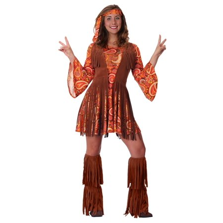 Women's Plus Size Fringe Hippie Costume - Plus Size Hippie