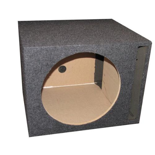 "Q-Power QSBASS12 Single 12"" Vented Slot Ported Empty Subwoofer Sub Enclosure Box"