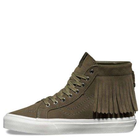 1ee8c17cc5 Vans Sk8-Hi Moc Suede Port Royale   Blanc De Ankle-High Fashion Sneaker -  9M 7.5M - Walmart.com