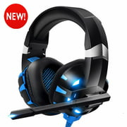 Gaming Headset,Surround Stereo Sound Headphones with Noise Canceling Mic Over Ear Headphones,Compatible with PC, PS4,Laptop