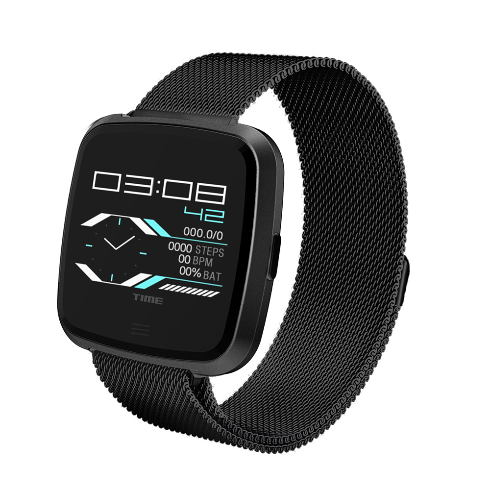 DTNO.I G12 Smart Watch BT 4.2 Fitness Tracker Calories Burned Heart Rate Monitor IP67 Waterproof Metal Strap Bracelet for IOS Android