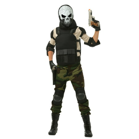 Costume For Boy (Skull Military Man Costume for)