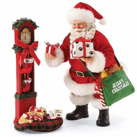 Possible Dreams Waiting for Santa with Pets Christmas Figurine 4057119 New