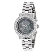 Watches: Womens Diamond Watch 3ct Black