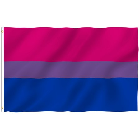 - ANLEY [Fly Breeze] 3x5 Foot Bi Pride Flag - Vivid Color and UV Fade Resistant - Canvas Header and Double Stitched - Bisexual Flags Polyester with Brass Grommets 3 X 5 Ft