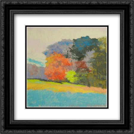 Fox Farm Woods 2x Matted 20x20 Black Ornate Framed Art Print by Kelly, Mike