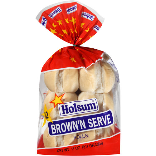 Holsum Brown'n Serve Rolls, 12 count, 11 oz