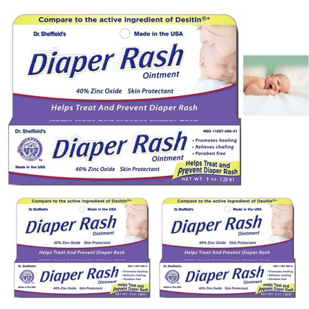 Zinc Oxide Diaper Rash Ointment (3 Pack Diaper Rash Ointment Tube Cream Paste 40% Zinc Oxide Relief Prevent 1)