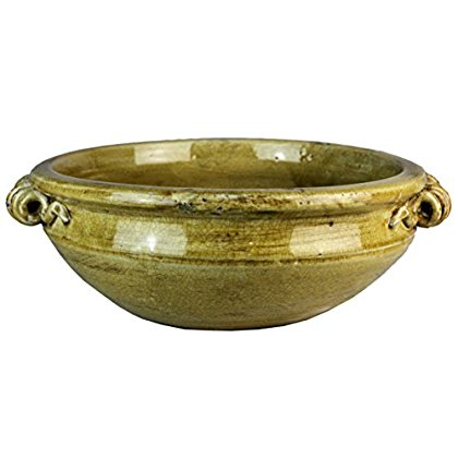 Michael Carr Designs JC13B286RUSND Dish Garden Bowl with Handles, Rustic Sand