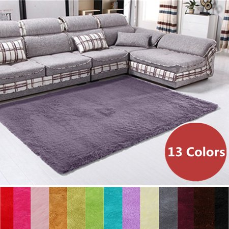 3 Sizes Modern Rectangle Soft Fluffy Floor Rug Anti Skid