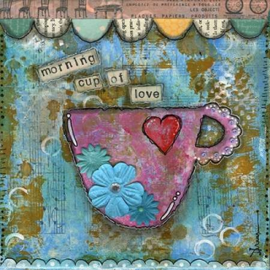 Morning Cup of Love Poster Print by Denise Braun PDXBD1026SMALL
