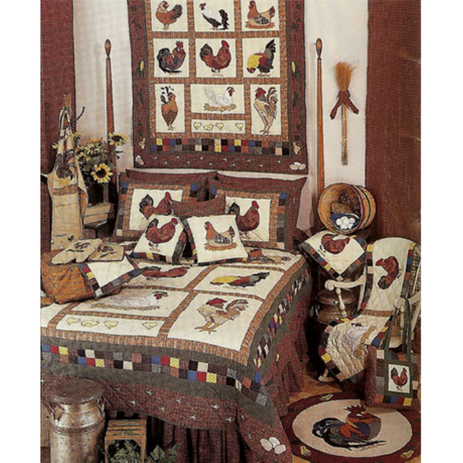 Patch Magic QTRSTR Rooster, Quilt Twin 65 x 85 inch