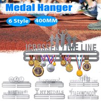 Sports Medal Hanger Holder Medal Display Rack Challenge Accepted Triathlon Keep Your Medals Neatly Organized and Beautifully Decor 40cm x17cm