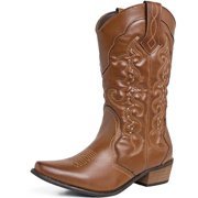 SheSole Womens Ladies Cowboy Western Cowgirl Country Boots Tan