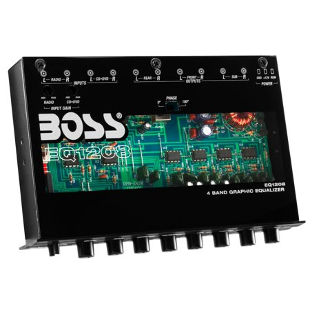 Boss Audio EQ1208 4-Band Preamp Equalizer
