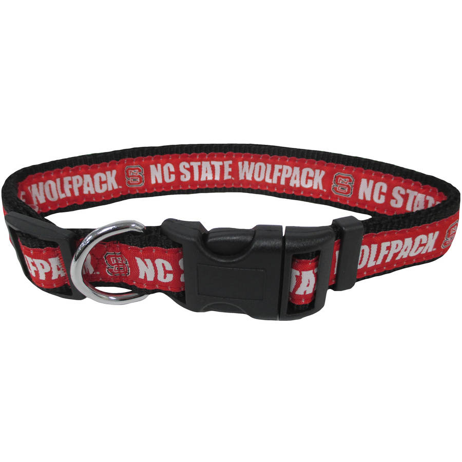 Pets First College Nc State Wolfpack Pet Collar, 3 Sizes Available, Sports Fan Dog Collar