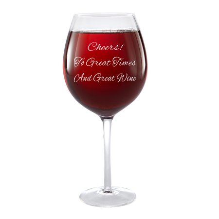 Script Glass (Personalized Create Your Own XL Wine Glass, Message, Choose Script or)