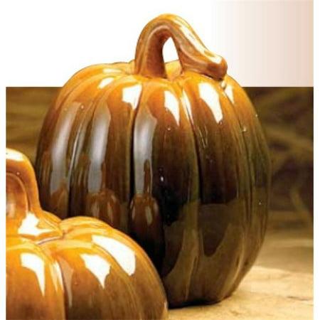 Biedermann & Sons H1463SM Small Ceramic Autumn Pumpkin