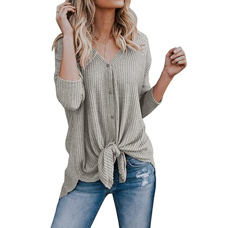 a67d6f698cb31 VISTA - Women's Cardigans Casual Lightweight V Neck Long Sleeve Cardigan  Sweaters with Buttons - Walmart.com