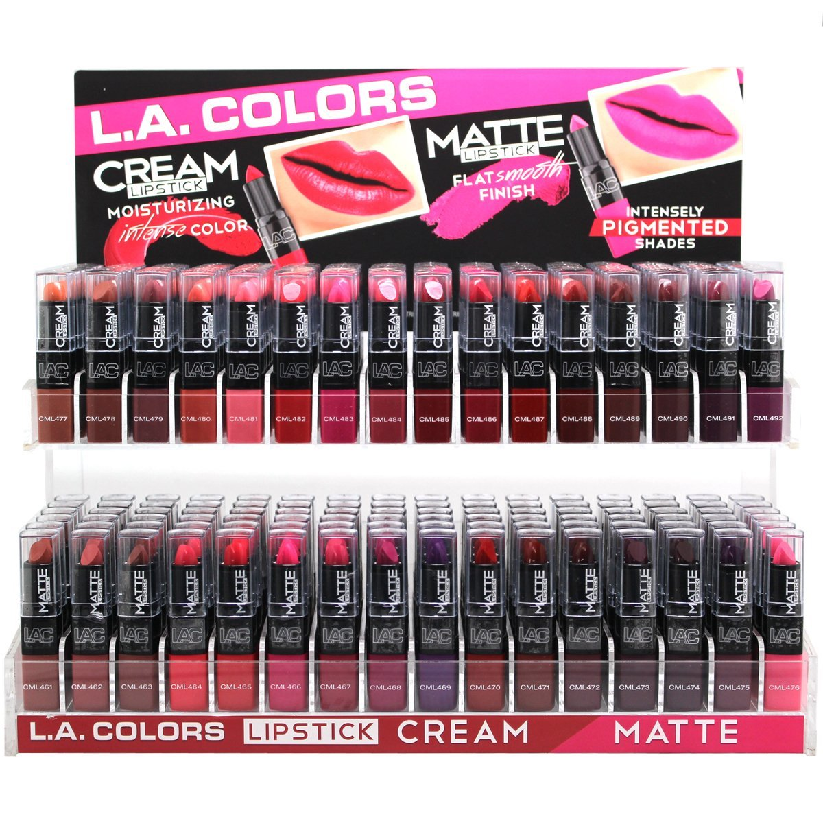 LA COLORS Moisturizing CREAM,Flat Smooth Finish MATTE Lipstick 32pcs
