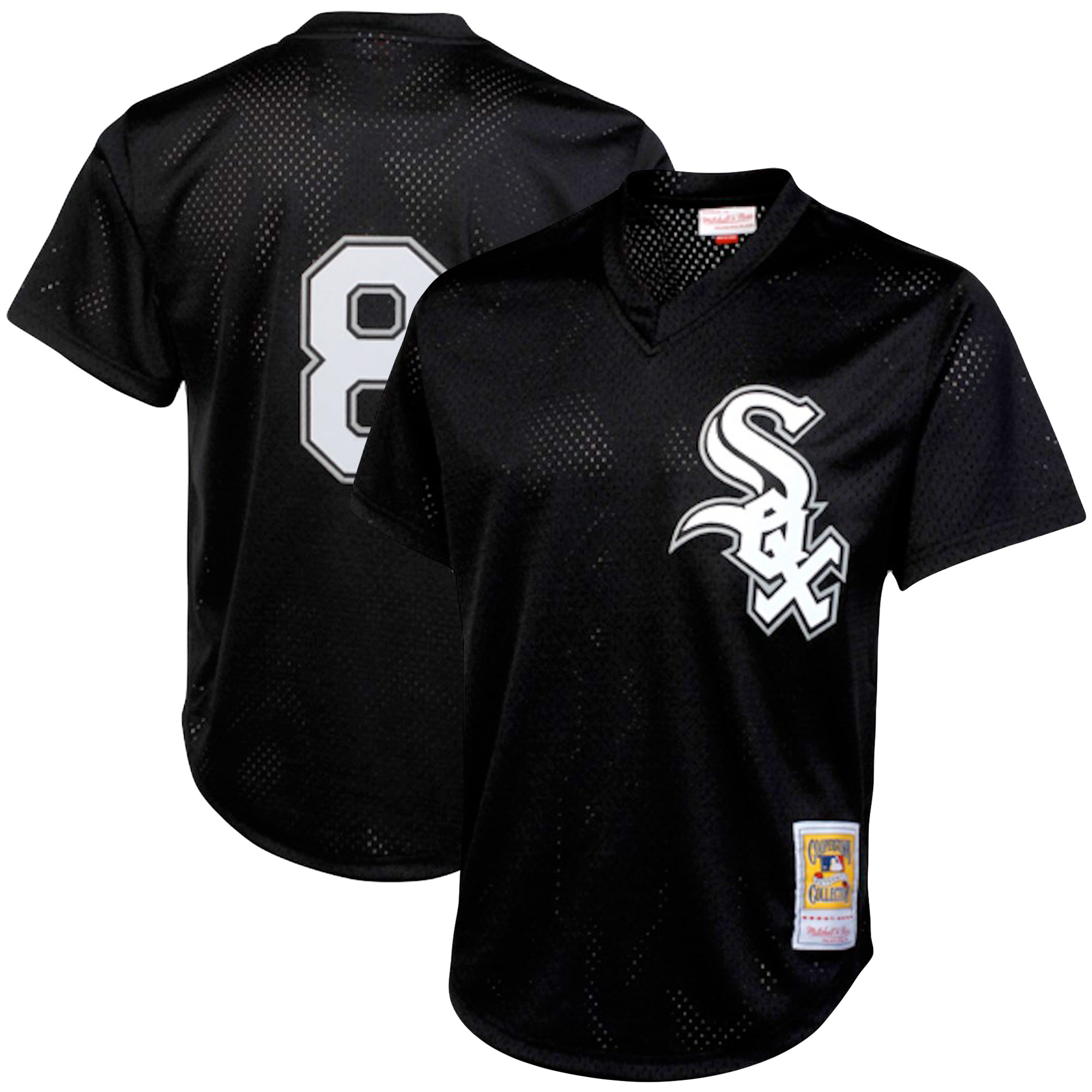 Bo Jackson Chicago White Sox Mitchell & Ness Cooperstown Collection Mesh Batting Practice Jersey - Black