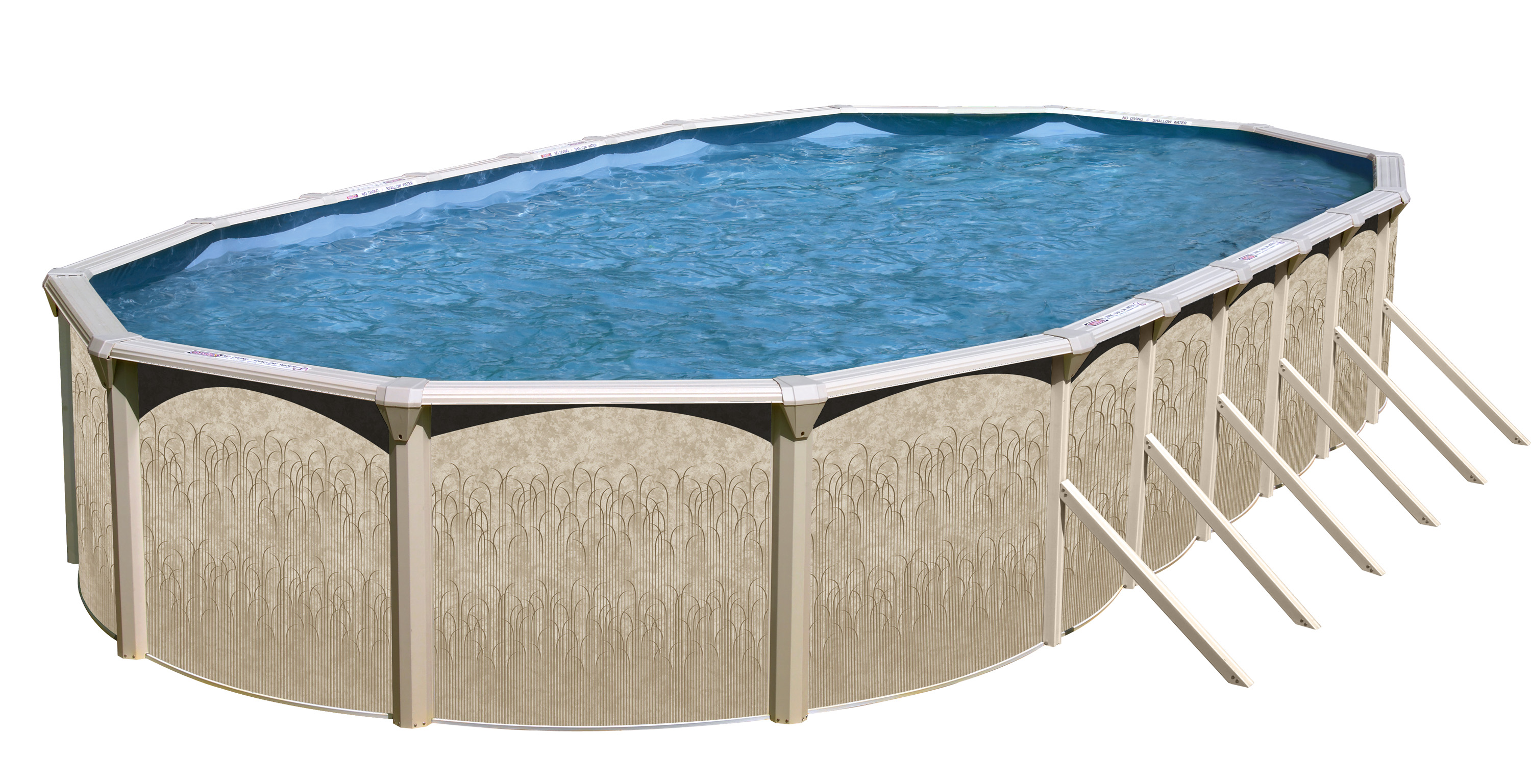 "Galveston 30' X 15' x 52"" Oval Above Ground Pool package by Swim N Play"
